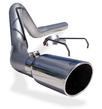 "EXHAUST SYSTEM - MBRP - ALUMINZED 4"" DIAMETER - FILTER-BACK  ('07.5-'09, 6.7L)"