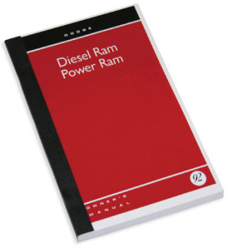 DODGE RAM OWNER'S MANUAL  ('92, DW250/350 - DIESEL)