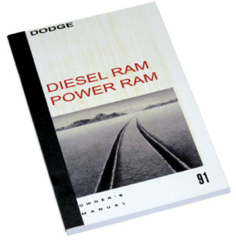 DODGE RAM OWNER'S MANUAL ('91, DW250/350 - DIESEL)