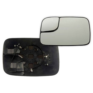MIRROR GLASS - TOWING/MANUAL - DRIVER  ('05-'09)