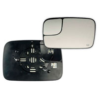 MIRROR GLASS - TOWING/HEATED - DRIVER  ('05-'09)