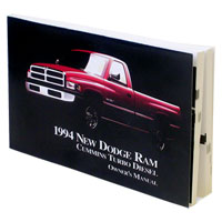 DODGE RAM OWNER'S MANUAL ('94, 2500/3500 - DIESEL)