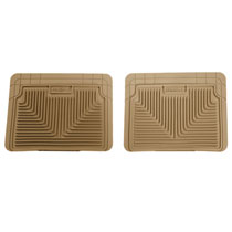 HEAVY DUTY FLOOR MATS, RUBBER - REAR (WITH UNDERSEAT STORAGE UNIT) ('03-'18)