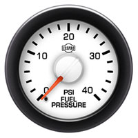 FUEL PRESSURE GAUGE,  40PSI (ELECTRIC)  ISSPRO EV²