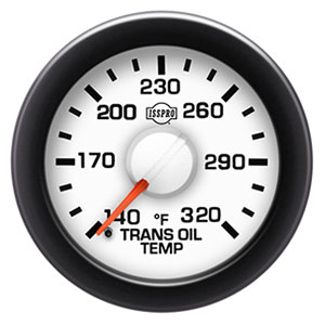 TRANSMISSION TEMPERATURE GAUGE (140-320 DEG - FULL SWEEP) ISSPRO EV²