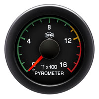 EXHAUST GAS TEMPERATURE GAUGE (100-1600 DEG) PRE-TURBO - ISSPRO EV²
