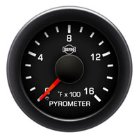 EXHAUST GAS TEMPERATURE GAUGE  (100-1600 DEG) PRE OR POST TURBO - ISSPRO EV²
