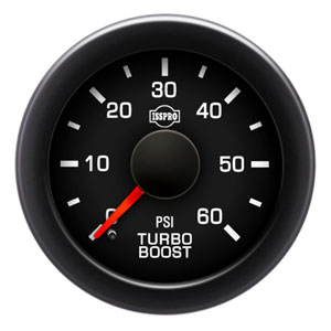 BOOST GAUGE,  60PSI - ISSPRO EV²