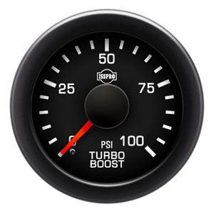 BOOST GAUGE,  100PSI (ELECTRIC) - ISSPRO EV²