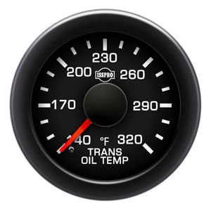 TRANSMISSION TEMPERATURE  GAUGE (140-320 DEG - FULL SWEEP) - ISSPRO EV²