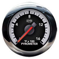 EXHAUST GAS TEMPERATURE GAUGE  (100-1600 DEG) ISSPRO EV²