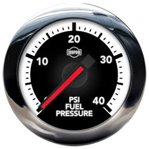 FUEL PRESSURE GAUGE,  40PSI (ELECTRIC) - ISSPRO EV²