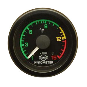 EXHAUST GAS TEMPERATURE GAUGE  (100-1500 DEG) POST-TURBO INSTALL - ISSPRO  EV¹