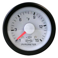 EXHAUST GAS TEMPERATURE GAUGE (100-1500 DEG)  PRE- OR POST-TURBO -  ISSPRO EV¹