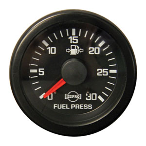 FUEL PRESSURE GAUGE, 30PSI (MECHANICAL) ISSPRO EV¹