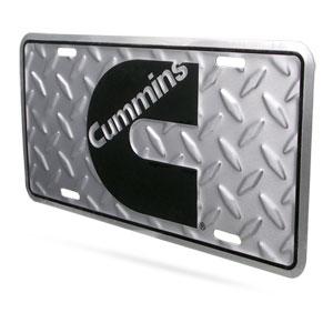 "CUMMINS ""C""  LICENSE PLATE - DIAMOND PATTERN"