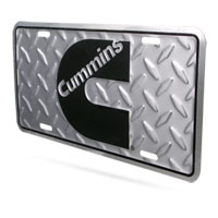 "CUMMINS ""C""  LICENSE PLATE - DIAMOND PATTERN"
