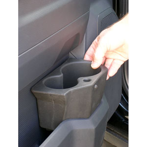 FRONT DOOR POCKET DRINK HOLDER, DRIVER SIDE - MOPAR ('10-'20, 2500/3500 & '09-'18,1500)