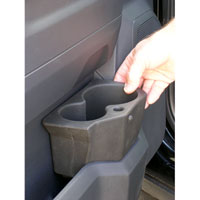 FRONT DOOR POCKET DRINK HOLDER, DRIVER SIDE - MOPAR ('10-'21, 2500/3500 & '09-'19,1500 CLASSIC)