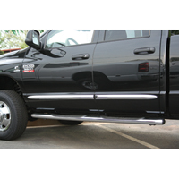 SIDE MOLDINGS - CHROME - MOPAR ('03-'09, QUAD CAB)