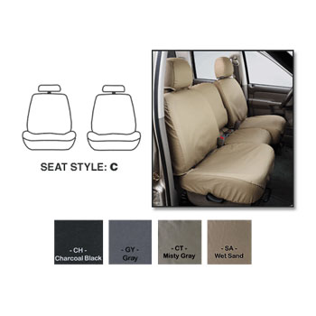 SEAT SAVERS - FRONT - COVERCRAFT  ('10-'11,  LARAMIE ONLY - BUCKETS W/ADJUSTABLE HEADREST)
