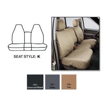 SEAT SAVERS - FRONT - COVERCRAFT ('98-'02, REG. CAB - 40/20/40 SEATS)