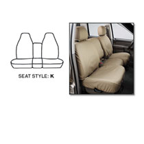SEAT SAVERS - FRONT - COVERCRAFT ('98-'02, REG. CAB - 40/20/40 SEATS)
