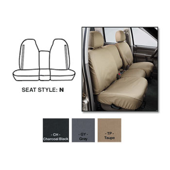 SEAT SAVERS - FRONT - COVERCRAFT ('98-'02, QUAD CAB - 40/20/40 SEATS)