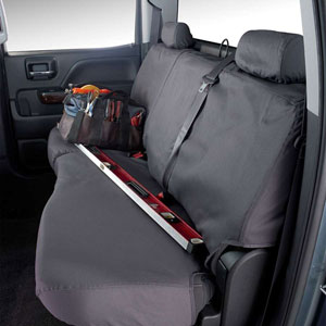 SEAT SAVERS - REAR - COVERCRAFT  ('11-'21,  CREW CAB - FULL BENCH W/ADJUSTABLE HEADRESTS AND CENTER BELT)