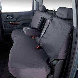 SEAT SAVERS - REAR - COVERCRAFT  ('06-'07 & '10-'17, MEGA CAB - 60/40 SEATS W/ADJUSTABLE HEADREST - FOLD DOWN CUPHOLDER)