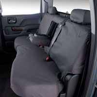 SEAT SAVERS - REAR - COVERCRAFT  ('06-'07 & '10-'17, MEGA CAB - 60/40 SEATS W/ADJUSTABLE HEADREST - FOLD DOWN CUPHOLDER)