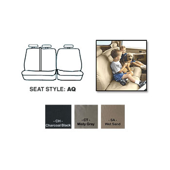SEAT SAVERS - REAR - COVERCRAFT  ('10, CREW CAB,  60/40 SPLIT SEATS W/3 ADJUSTABLE HEADRESTS - FOLD DOWN CUPHOLDER)