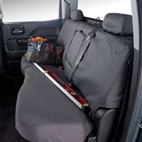 SEAT SAVERS - REAR - COVERCRAFT  ('10, 2500/3500 CREW CAB,  60/40 SPLIT SEATS W/3 ADJUSTABLE HEADRESTS - FOLD DOWN CUPHOLDER)