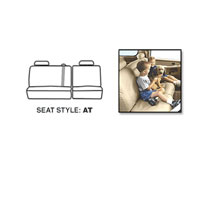 SEAT SAVERS - REAR - COVERCRAFT  ('10, CREW CAB - 60/40 SPLIT SEATS  W/2 ADJUSTABLE HEADREST - CENTER BELT - NO ARMREST)
