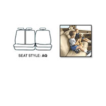 SEAT SAVERS - REAR - COVERCRAFT ('11-'17, CREW/QUAD - 60/40 SPLIT SEATS W/3 ADJUSTABLE HEADRESTS - W/FOLD DOWN ARMREST)