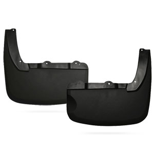 MUD GUARDS - HUSKY LINERS - REAR  ('10-'18, W/OEM FENDER FLARES - DRW)