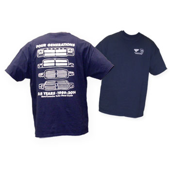 T-SHIRT - FOUR GENERATIONS - NAVY BLUE