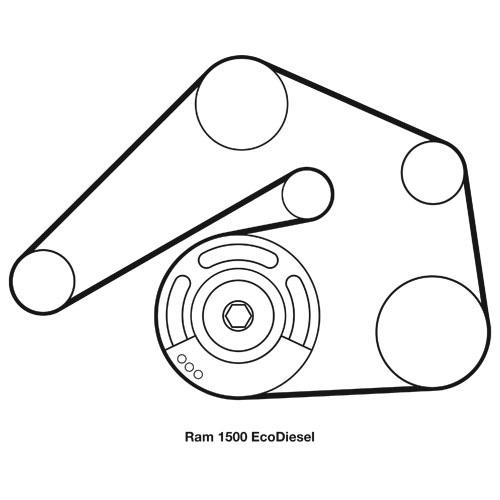 '14-'18 ram 1500 ecodiesel mopar serpentine belt