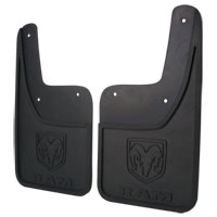 SPLASH GUARDS - MOPAR - HEAVY DUTY - REAR ('10-'18, 2500/3500 - W/O OEM FENDER FLARES - SRW)