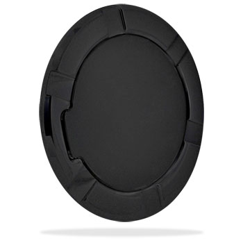 FUEL DOOR - FLAT BLACK ALUMINUM  ('94-'12)