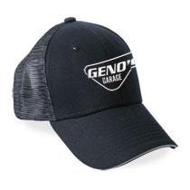 BALL CAP - GENO'S BLACK MESH