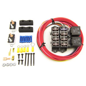AUXILIARY FUSE BLOCK - 7 CIRCUIT (ALL IGNITION HOT, 10 AMP) PAINLESS PERFORMANCE