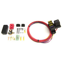 AUXILIARY FUSE BLOCK  - 3 CIRCUIT (1 CONSTANT HOT/2 IGNITION HOT, 30 AMP) WEATHER RESISTANT - PAINLESS PERFORMANCE