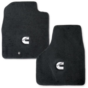 FLOOR MATS - AVERY'S - 'CUMMINS C' - FRONT  ('10-'14, REGULAR CAB)