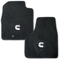 FLOOR MATS - AVERY'S - 'CUMMINS C' - FRONT  ('10-'14, REGULAR CAB)