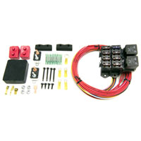 AUXILIARY FUSE BLOCK  - 7 CIRCUITS (ALL IGNITION HOT, 10 AMP)  WEATHER RESISTANT -  PAINLESS PERFORMANCE