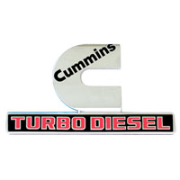 "EMBLEM - ""CUMMINS TURBO DIESEL"" - CHROME ('13-'18)"
