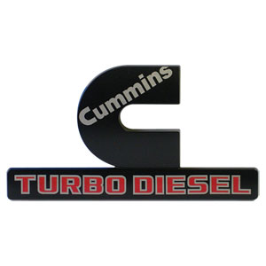 Cummins Turbo Diesel >> 15 18 Cummins Turbo Diesel Oem Black Fender Emblem