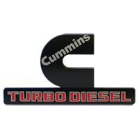 "EMBLEM - ""CUMMINS TURBO DIESEL"" - BLACK ('15-'18)"