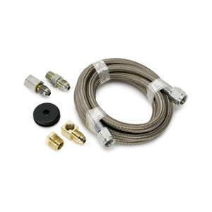 STAINLESS STEEL LINE KIT, -4AN (6FT) - AUTO METER